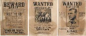 DX-095 DX095 Denix Old West Wanted Posters.