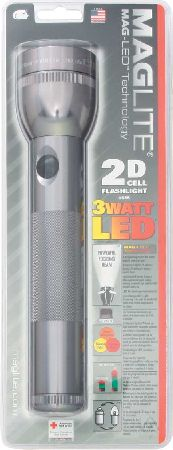 ML51010 MAGLITE LED 2 CELL D GRAY BODY