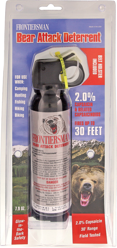 Bear Protection With Frontiersman Bear Spray: SA95459 Frontiersman Bear Spray ORMD