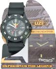 UZI001R UZI TRITIUM WATCH BLACK RUBBER BAND