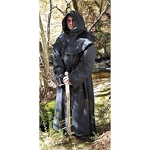 MRP100298BLK Monk's Robe. Black.