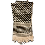 RED7002 Shemagh Head Wrap Khaki/BLK