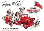 TSN0594 Tin Sign Texaco Rarin' To Go.