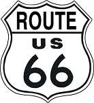 TSN0679 Tin Sign Route 66 Shield.