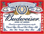 TSN0979 Tin Sign Budweiser - Label.