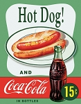 TSN1048 Tin Sign Hot Dog And Coke.
